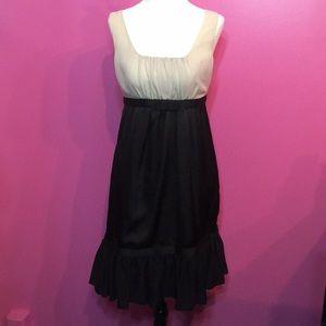 Black and Tan Cocktail Dress  Sz